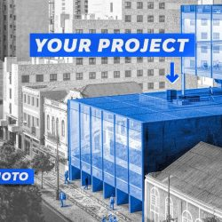 Inserting projects into aerial  photos