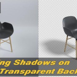 Rendering shadows on transparent backgrounds