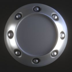 Round object with holes