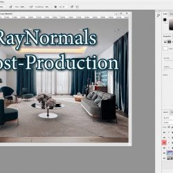 Post-production in Photoshop using VRayNormals