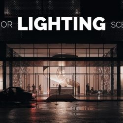 Exterior render lighting techniques