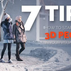 How to add 3D people to your renders