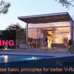 Settings, techniques and principles for lighting in V-Ray